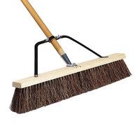 Carlisle 367372TC00 24 inch Hardwood Push Broom with Palmyra Bristles, Brace, and Hardwood Handle