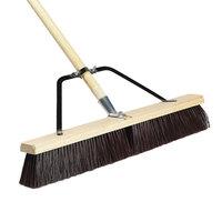 Carlisle 367366TC24 24 inch Hardwood Push Broom with Polypropylene Bristle Blend, Brace, and Hardwood Handle
