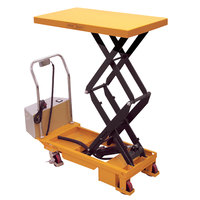 Wesco Industrial Products 273713 20 inch x 36 inch Powered Double Scissors Lift Table, 770 lb. 14 inch - 51 inch Lift