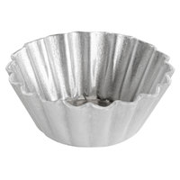 Fat Daddio's PMTH-2 ProSeries 2 inch x 1 inch Round Heavy Duty Aluminum Fluted Tartlet / Mini Quiche Pan - 20/Pack