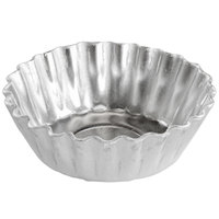 Fat Daddio's PMTH-25 ProSeries 2 1/2 inch x 1 inch Round Heavy Duty Aluminum Fluted Tartlet / Mini Quiche Pan - 20/Pack