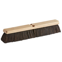 Carlisle 4503003 Flo-Pac 18 inch Hardwood Push Broom Head with Flagged Horsehair / Polypropylene Bristle Blend