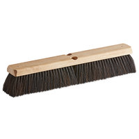 Carlisle 4504003 Flo-Pac 18 inch Hardwood Push Broom Head with Horsehair / Tampico Bristle Blend