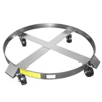 Wesco Industrial Products 240192 19 inch Stainless Steel Dolly with 3 inch Rubber Casters for 30 Gallon Steel Drums