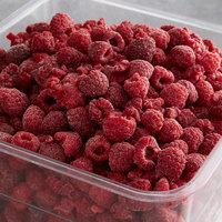 30 lb. IQF Raspberries - Pieces and Whole