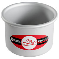 Fat Daddio's PCC-43 ProSeries 4 inch x 3 inch Round Anodized Aluminum Straight Sided Cheesecake Pan with Removable Bottom