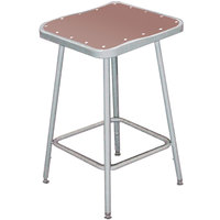 National Public Seating 6324 24 inch Gray Hardboard Square Lab Stool