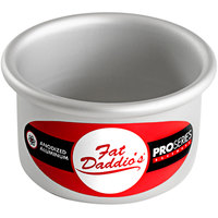Fat Daddio's PCC-32 ProSeries 3 inch x 2 inch Round Anodized Aluminum Straight Sided Cheesecake Pan with Removable Bottom