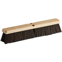 Carlisle 360241803 Flo-Pac 18 inch Hardwood Push Broom Head with Horsehair / Polypropylene Bristle Blend and Wire Bristle Center