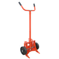 Wesco Industrial Products 240052 1000 lb. Steel Drum Truck with (2) 10 inch Polyolefin Wheels - Knocked Down