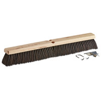 Carlisle 4504103 Flo-Pac 24 inch Hardwood Push Broom Head with Horsehair / Tampico Bristle Blend