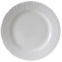 Tuxton CHA-096 Chicago 9 3/4 inch Bright White China Plate - 24/Case