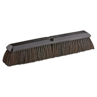 Carlisle 4056100 18 inch Plastic Push Broom Head with Horsehair / Polypropylene Bristle Blend