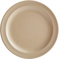 Acopa Foundations 10 inch Tan Narrow Rim Melamine Plate - 12/Case