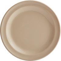 Acopa Foundations 5 1/2 inch Tan Narrow Rim Melamine Plate   - 12/Case