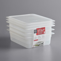 Cambro 24PPSW3190 1/2 Size 4 inch Deep Translucent Polypropylene Food Pan with Seal Cover   - 3/Pack