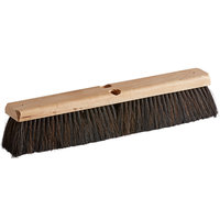 Carlisle 36201803 Flo-Pac 18 inch Hardwood Push Broom Head with Horsehair / Polypropylene Bristle Blend