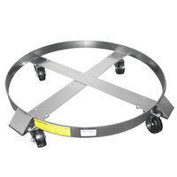 Wesco Industrial Products 240198 27 inch Stainless Steel Dolly with 3 inch Rubber Casters for 85 Gallon Steel Drums
