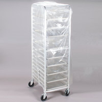 22 inch x 31 inch x 72 inch Disposable .75 Mil Bun Pan Rack Cover - 100 / Roll