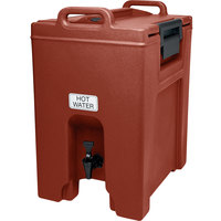 Cambro UC1000402 Ultra Camtainers® 10.5 Gallon Brick Red Insulated Beverage Dispenser