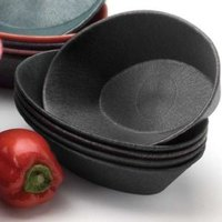 HS Inc. HS1011L 10 inch x 6 inch x 2 1/2 inch Charcoal Polyethylene Large Oval Basket - 24/Case