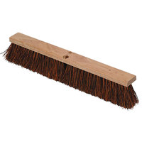 Continental F102024 24 inch Hardwood Push Broom Head with Heavy Palmyra Bristles