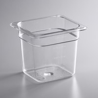 Vigor 1/6 Size Clear Polycarbonate Food Pan - 6 inch Deep