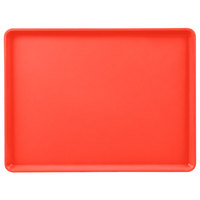 Cambro 1216D510 12 inch x 16 inch Signal Red Dietary Tray - 12/Case