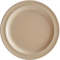 Acopa Foundations 9 inch Tan Narrow Rim Melamine Plate - 12/Case