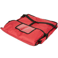 American Metalcraft PBDX1805 18 inch x 18 inch x 5 inch Deluxe Insulated Red Pizza Delivery Bag
