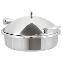 Vollrath 46123 6 Qt. Intrigue Solid Top Round Induction Chafer with Stainless Steel Trim and Stainless Steel Food Pan