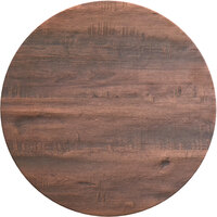 Lancaster Table & Seating Excalibur 32 inch Round Table Top with Textured Walnut Finish