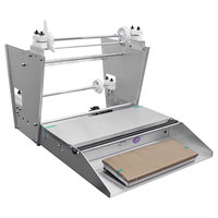 Heat Seal 825A Double 18 inch Roll Film Axle Mounted Countertop Wrapping Machine - 748W, 115V