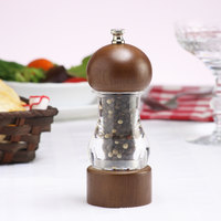 Chef Specialties 29183 Professional Series 6 inch Vanguard Acrylic and Walnut Pepper Mill