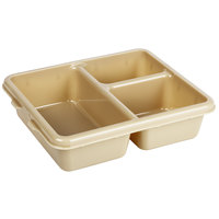 Cambro 9113CW133 Camwear 9 inch x 11 inch Beige 3 Compartment Meal Delivery Tray - 24/Case