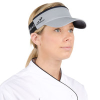 Gray Headsweats Customizable CoolMax Chef Visor