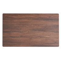 Lancaster Table & Seating Excalibur 24 inch x 48 inch Rectangular Table Top with Textured Walnut Finish