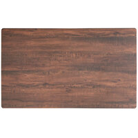Lancaster Table & Seating Excalibur 28 inch x 48 inch Rectangular Table Top with Textured Walnut Finish