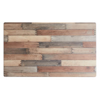 Lancaster Table & Seating Excalibur 24 inch x 48 inch Rectangular Table Top with Textured Mixed Plank Finish