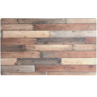 Lancaster Table & Seating Excalibur 28 inch x 48 inch Rectangular Table Top with Textured Mixed Plank Finish