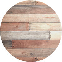 Lancaster Table & Seating Excalibur 32 inch Round Table Top with Textured Mixed Plank Finish