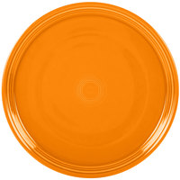 Homer Laughlin 505325 Fiesta Tangerine 15 inch China Pizza / Baking Tray - 4 / Case