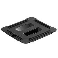 Vigor 1/6 Size Black Polycarbonate Food Pan Lid with Handle