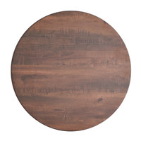 Lancaster Table & Seating Excalibur 24 inch Round Table Top with Textured Walnut Finish