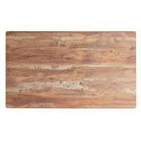 Lancaster Table & Seating Excalibur 24 inch x 48 inch Rectangular Table Top with Textured Yukon Oak Finish
