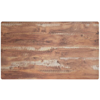Lancaster Table & Seating Excalibur 28 inch x 48 inch Rectangular Table Top with Textured Yukon Oak Finish