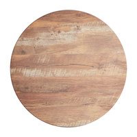 Lancaster Table & Seating Excalibur 32 inch Round Table Top with Textured Yukon Oak Finish