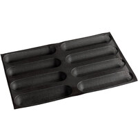 Sasa Demarle Flexipan Air® SF-0167 Silicone 8 Compartment Oblong Bread Mold - 10 1/4 inch x 2 1/2 inch x 1 3/16 inch Cavities