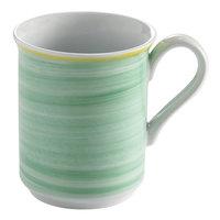 Corona by GET Enterprises PA1603606124 Calypso 11 oz. Green Porcelain Mug with Yellow Rim - 24/Case
