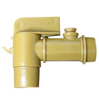 Wesco Industrial Products 272179 Deluxe 2 inch Plastic Faucet for Select Drums